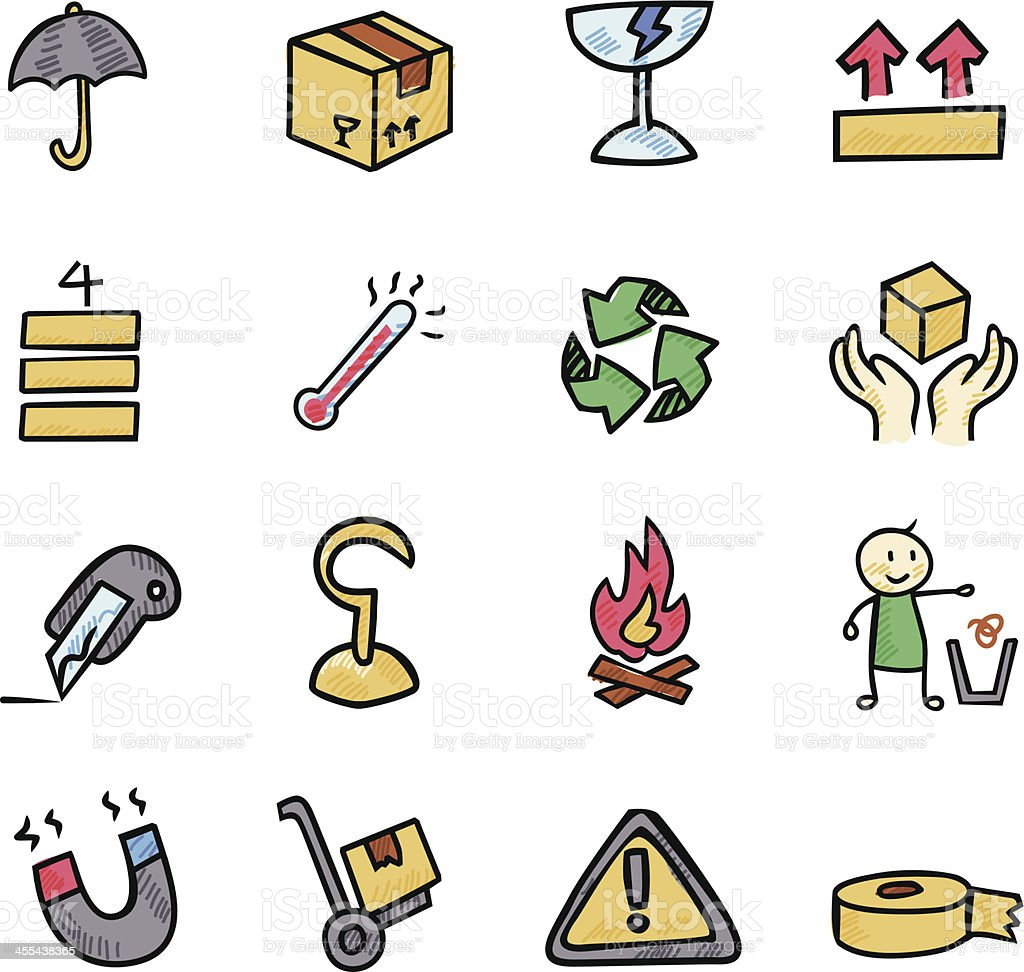 Packing Icon royalty-free stock vector art