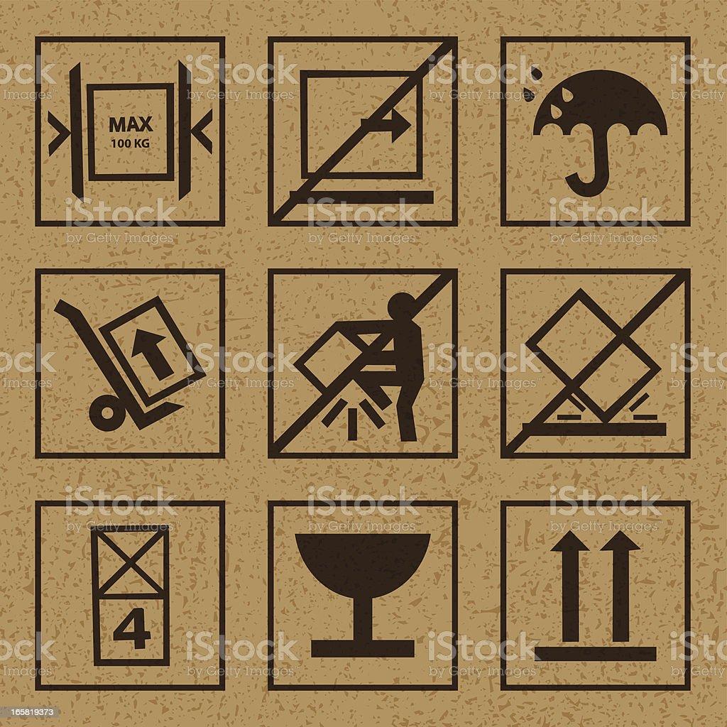packing symbols royalty-free stock vector art