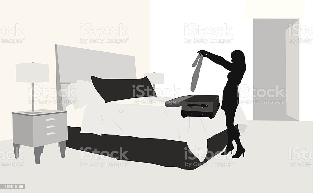 Packing Vector Silhouette royalty-free stock vector art