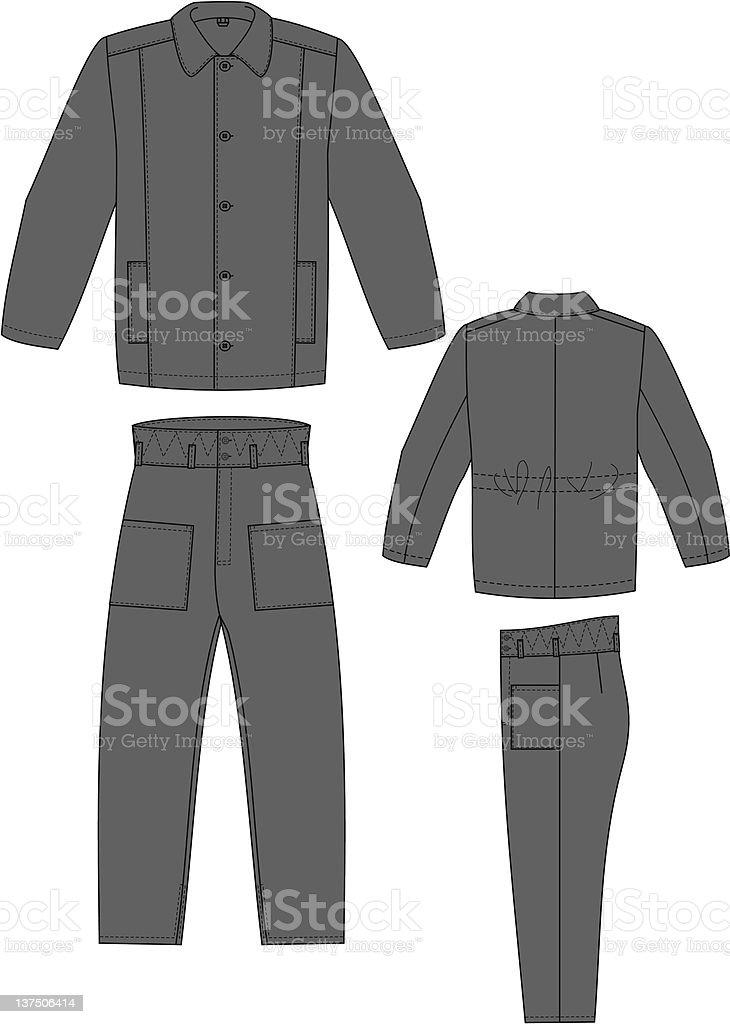 Padded jacket royalty-free stock vector art