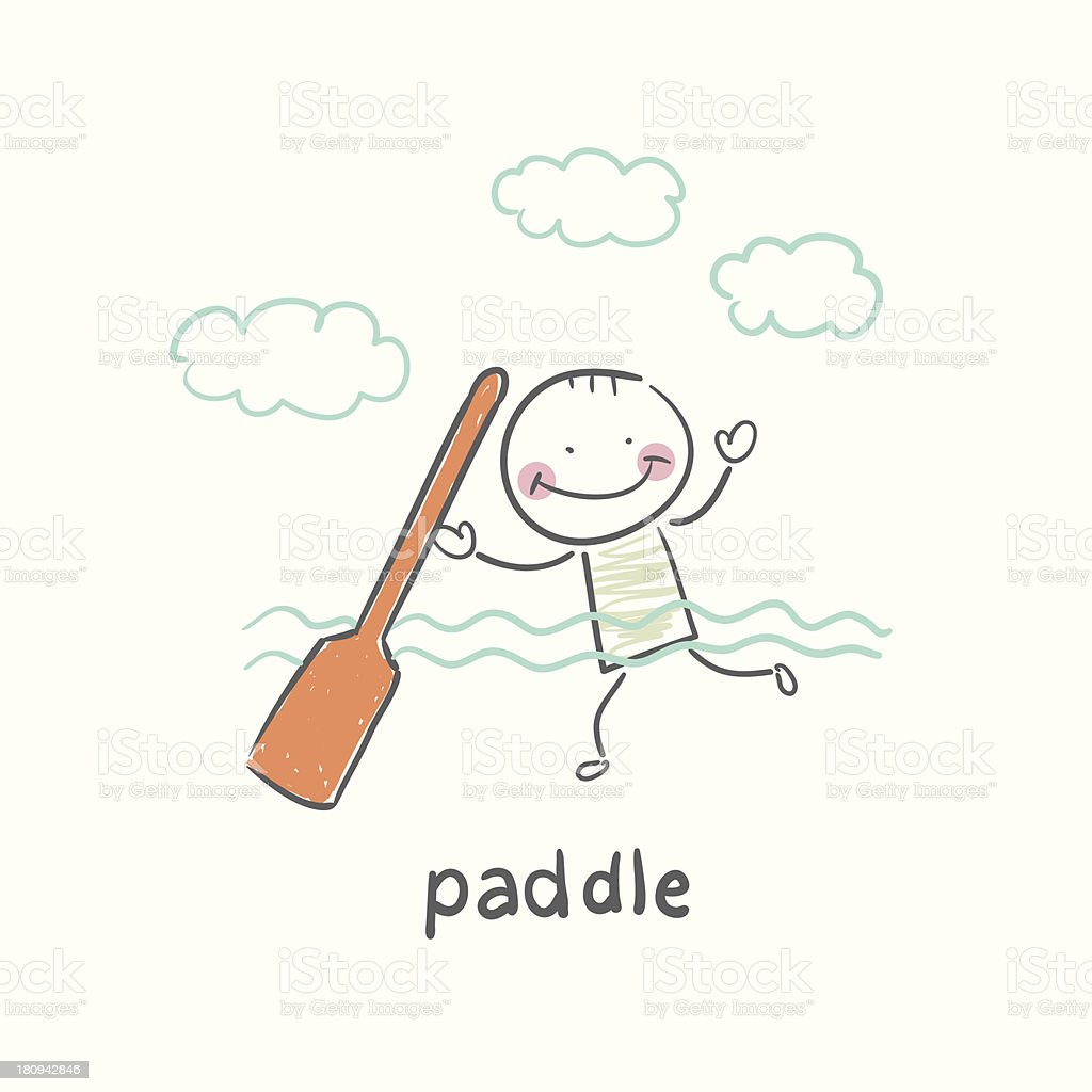 paddle royalty-free stock vector art