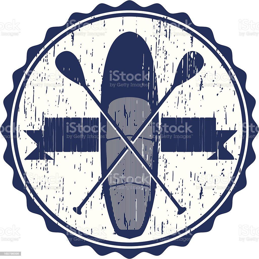 paddleboard university royalty-free stock vector art