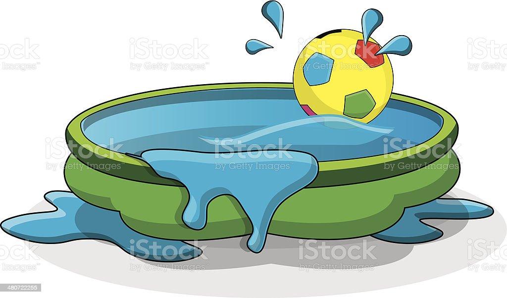 Paddling Pool vector art illustration