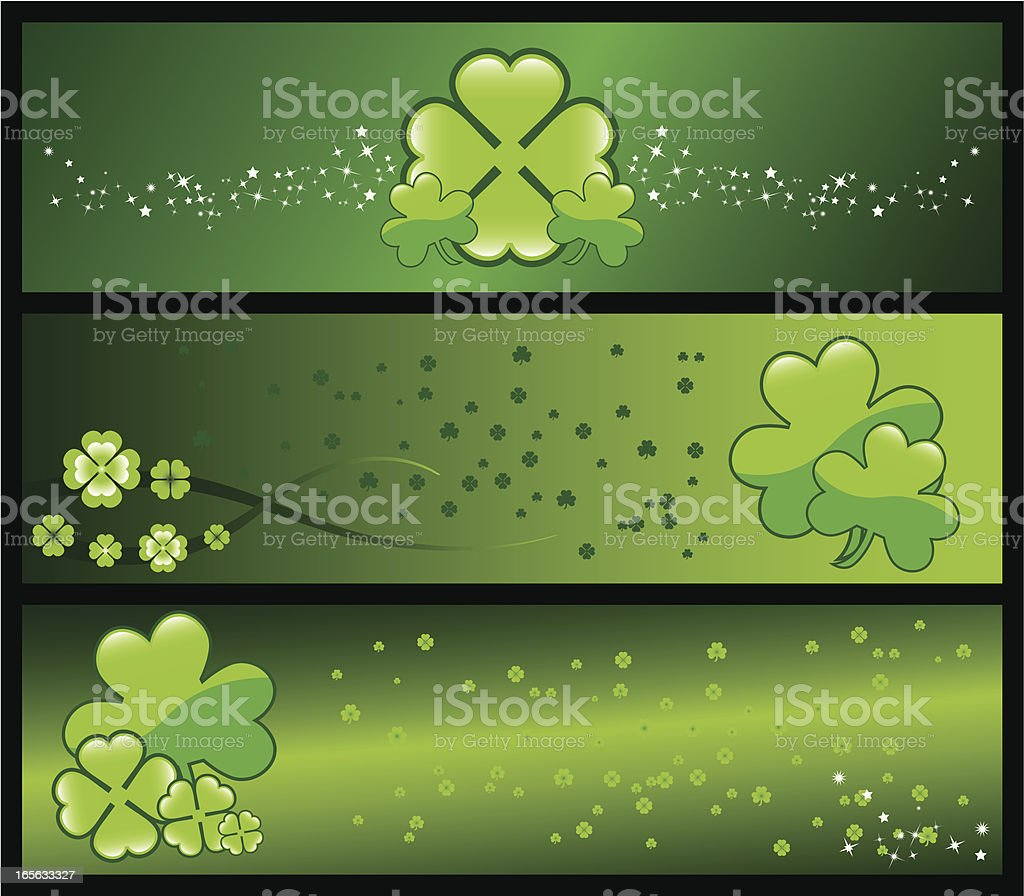 Paddys Banner royalty-free stock vector art