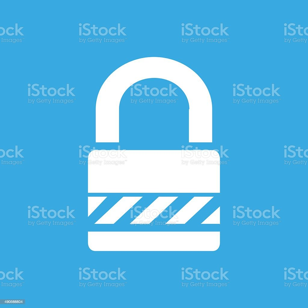 Padlock icon on a blue background. - SmoothSeries vector art illustration