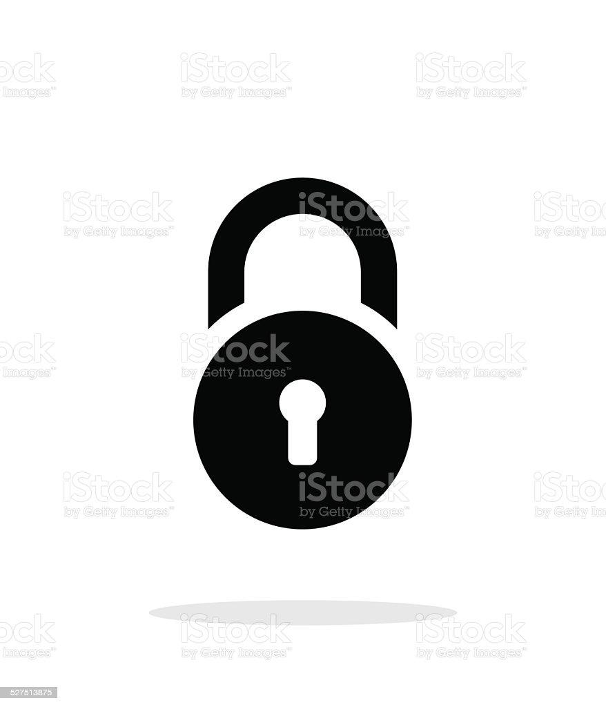 Padlock icon on white background. vector art illustration