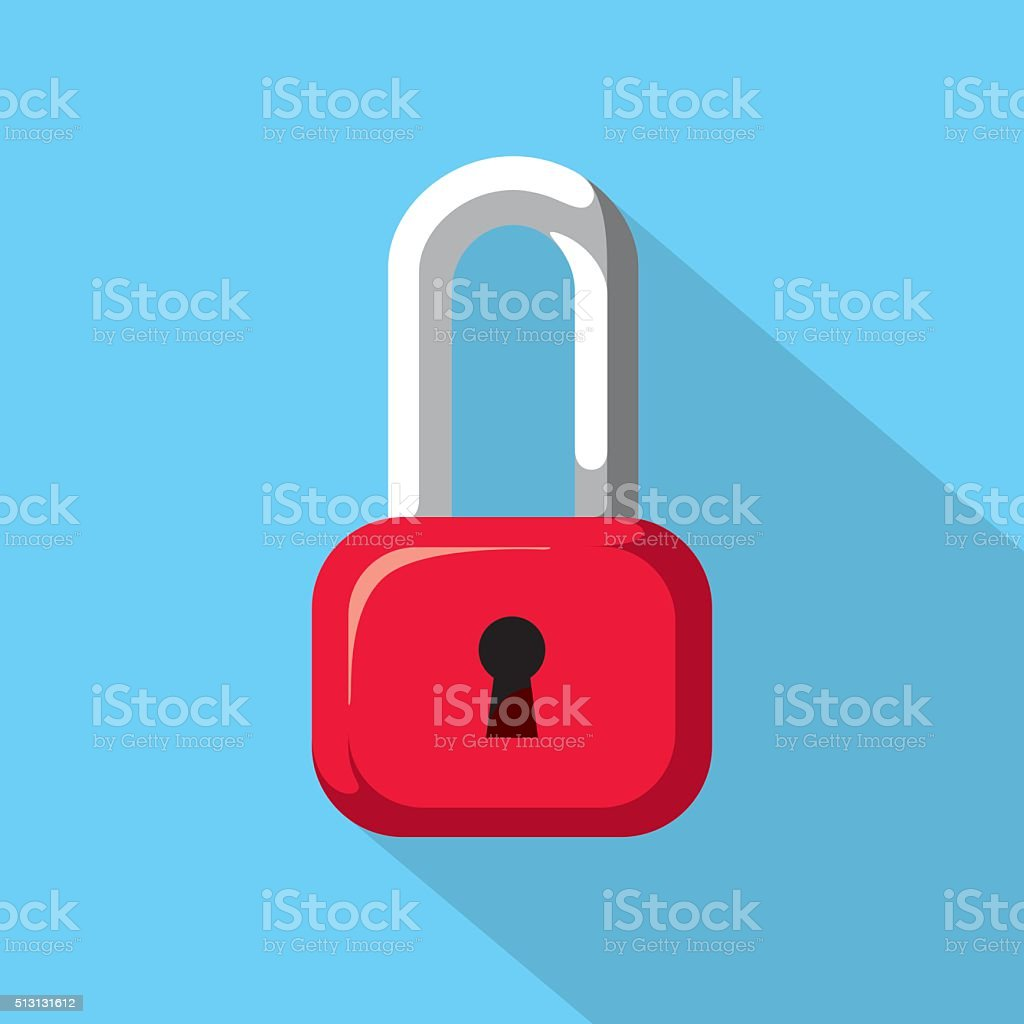 Padlock Icon vector art illustration