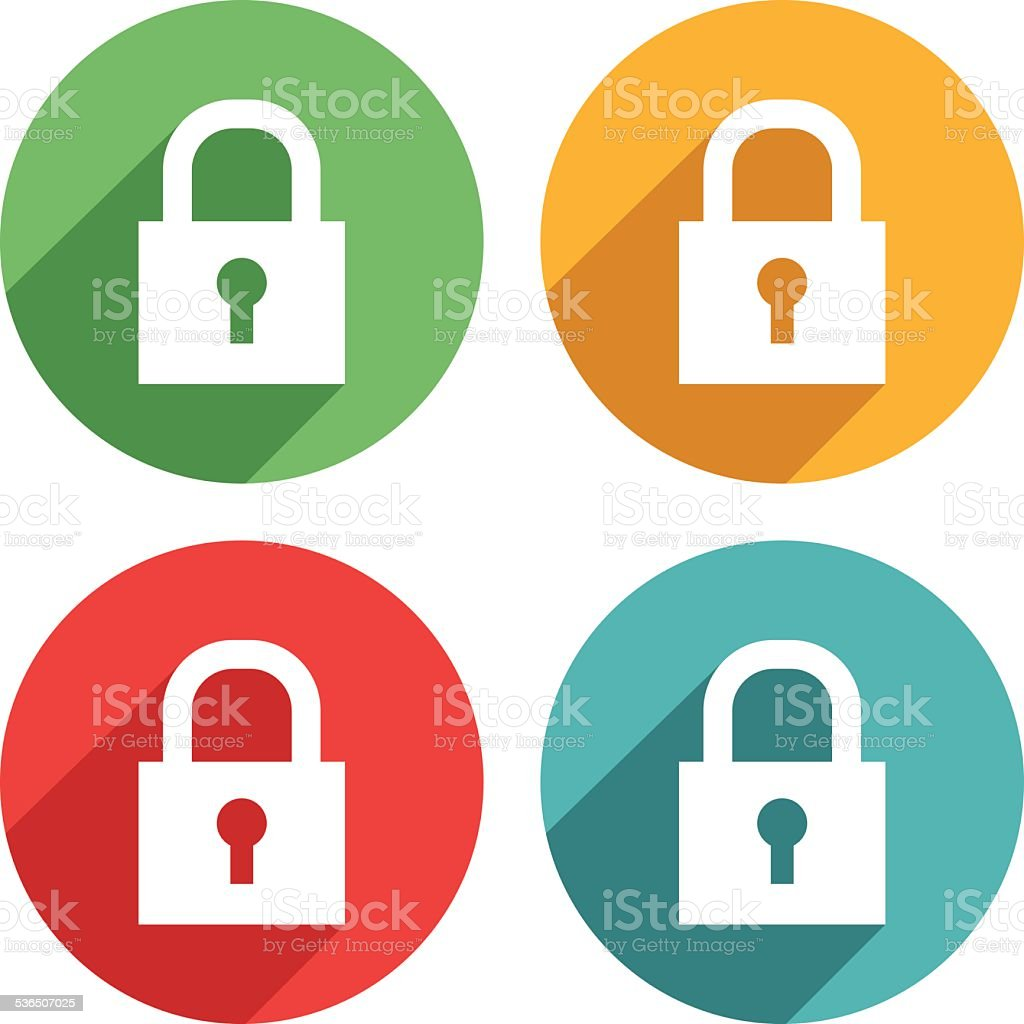 Padlock Icons - VECTOR vector art illustration