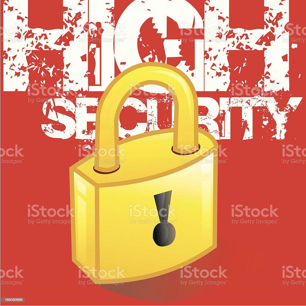 Candado de materia de seguridad - ilustración de arte vectorial
