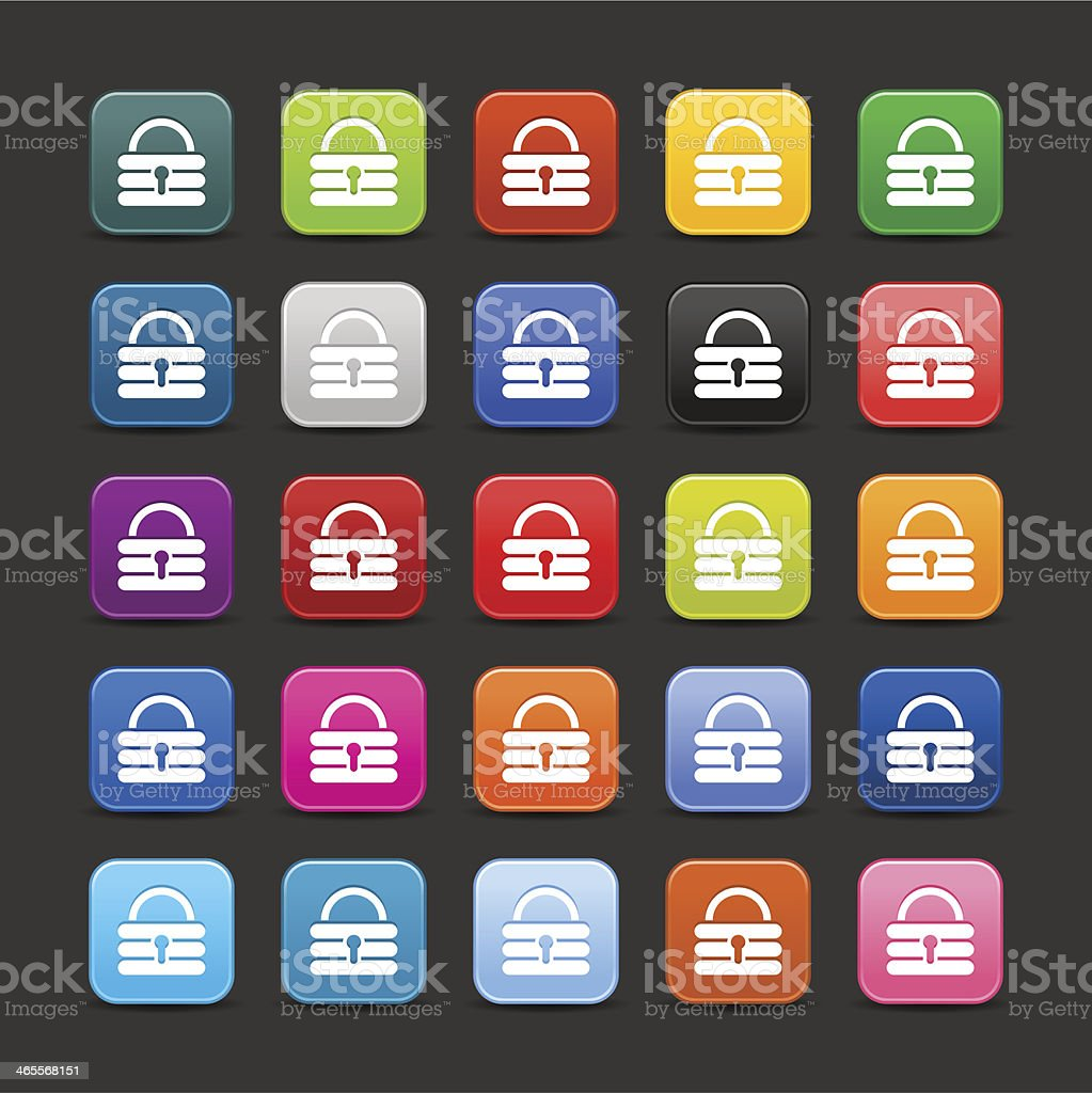 Padlock sign rounded square icon web internet button royalty-free stock vector art