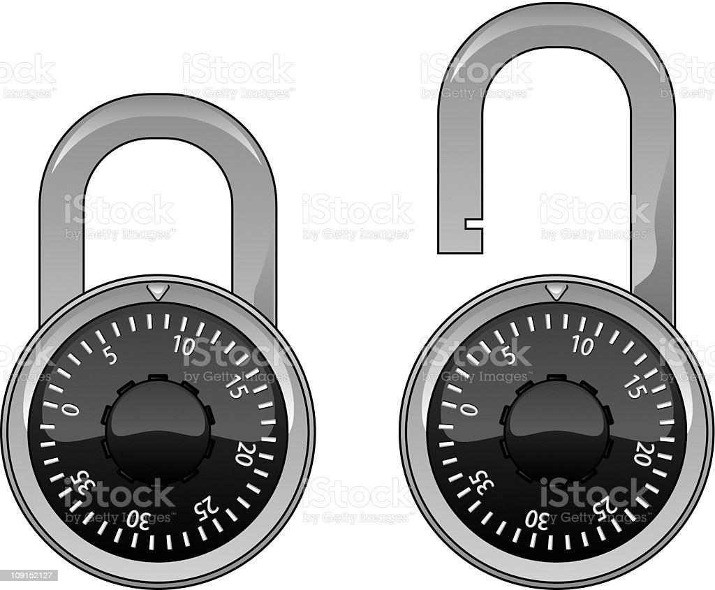 padlock royalty-free stock vector art