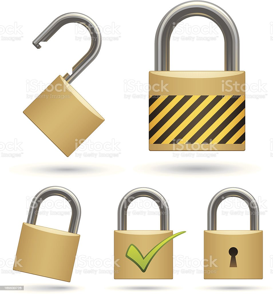 Padlocks vector art illustration