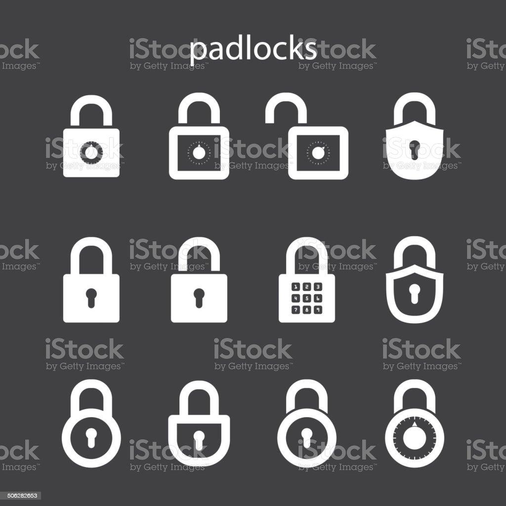 padlocks vector art illustration
