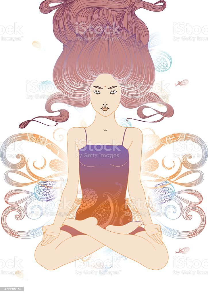 Padmasana royalty-free stock vector art