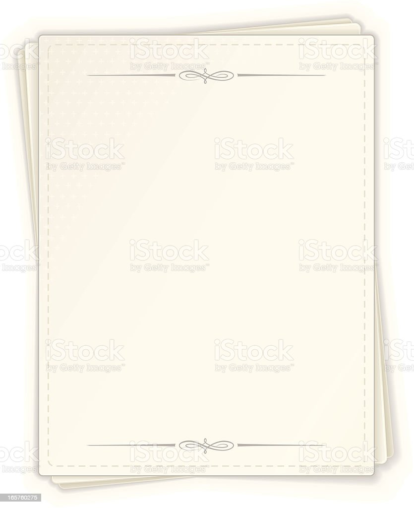 Page Banner royalty-free stock vector art