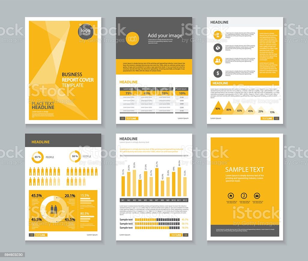 page brochure flyer report layout design template and cover design 1 credit