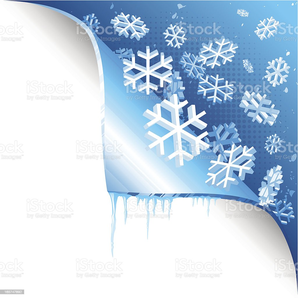 Page Curl - winter royalty-free stock vector art