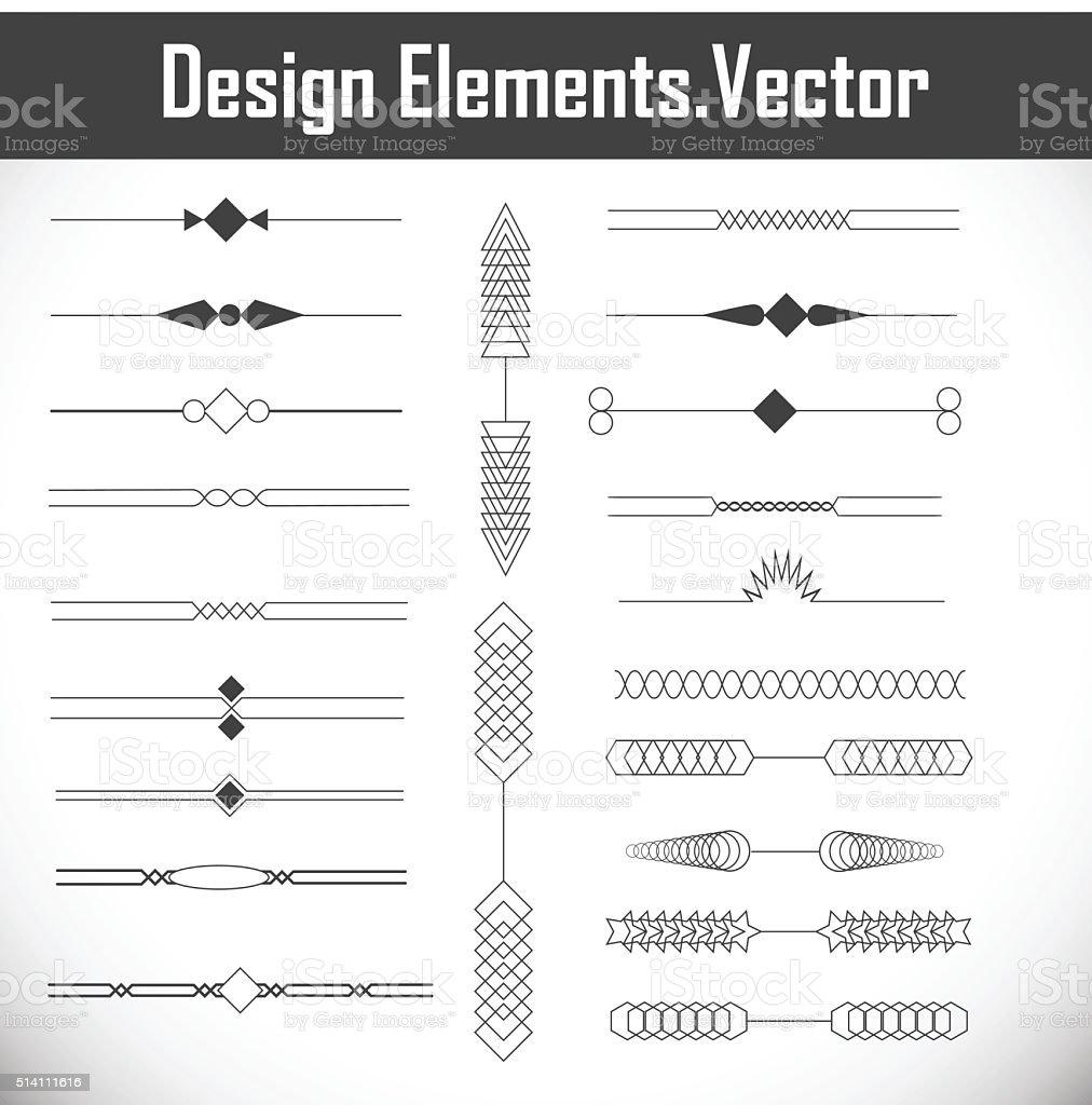 Page Decoration Design Elements. vector art illustration