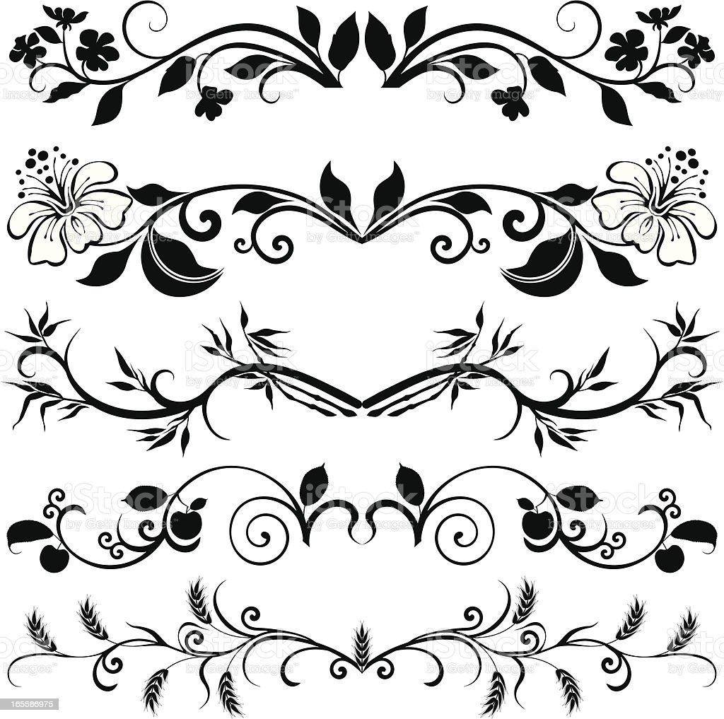 Page decoration with branches royalty-free stock vector art