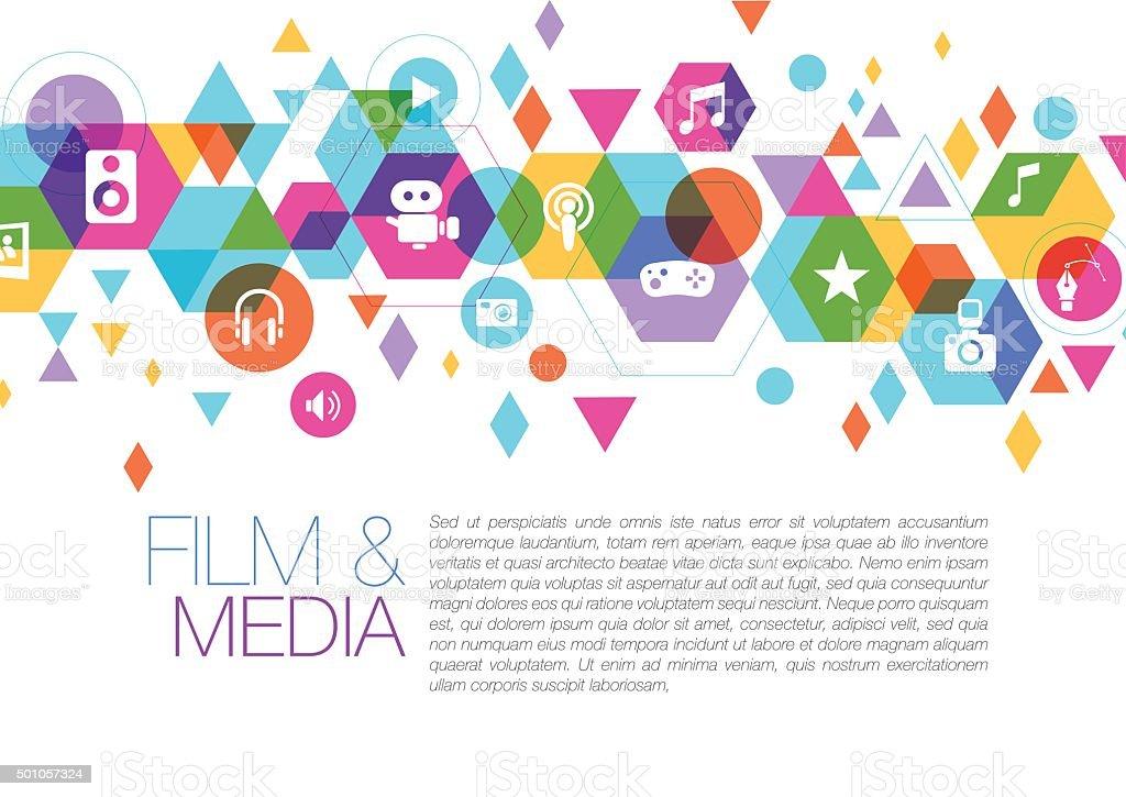 Page design for multimedia vector art illustration