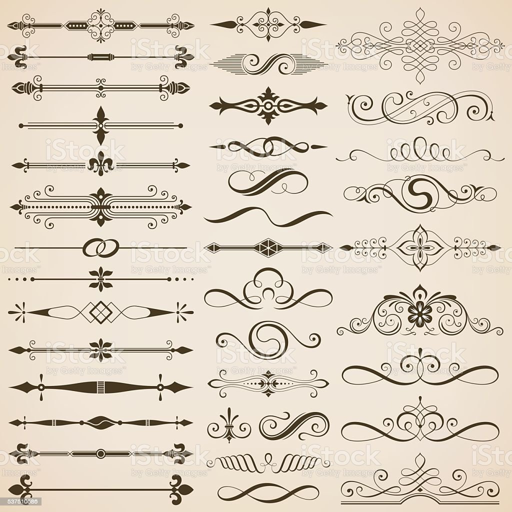 Page Divider And Design Elements vector art illustration