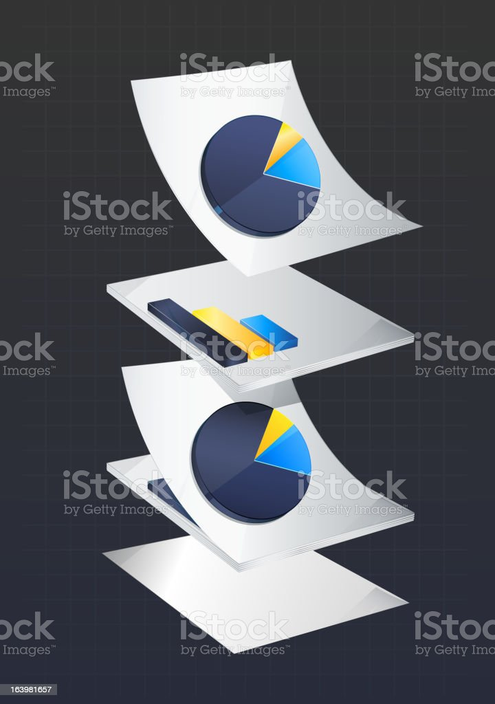 Page Flow royalty-free stock vector art