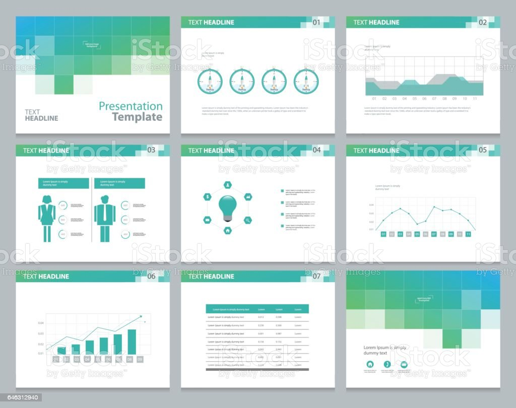 page layout design template for business presentation page 1 credit
