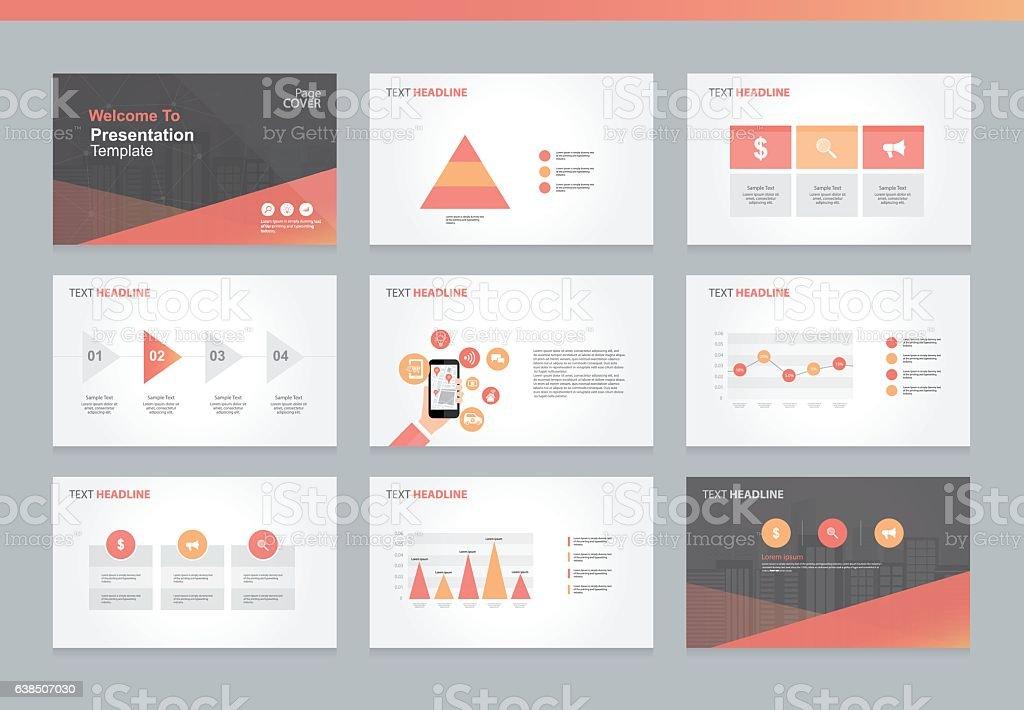 Page layout design template for business presentation – Vektorgrafik