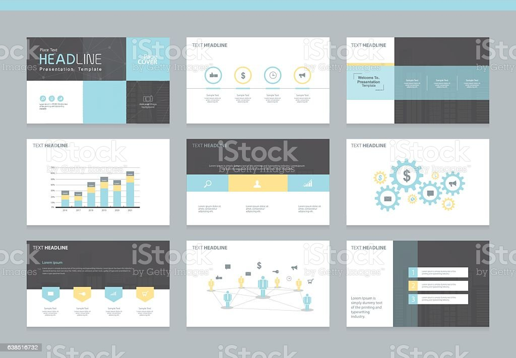 Page layout design template for presentation vector art illustration