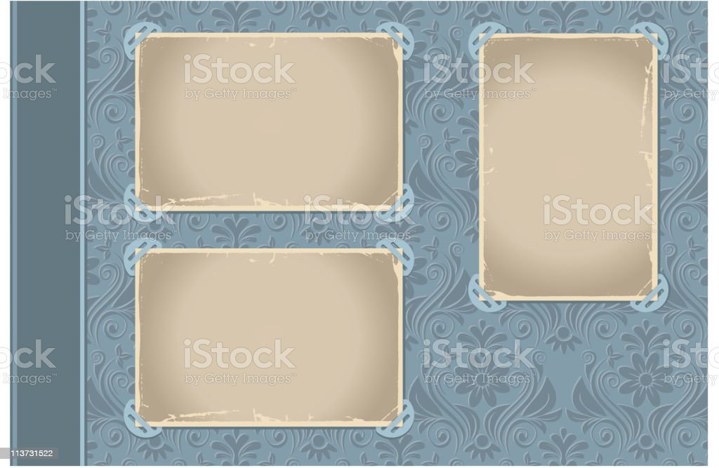 A page layout for a photo album  vector art illustration