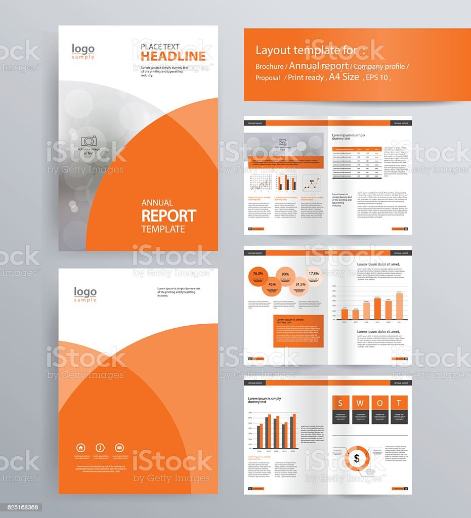 page layout for company profile annual report and brochure layout 1 credit
