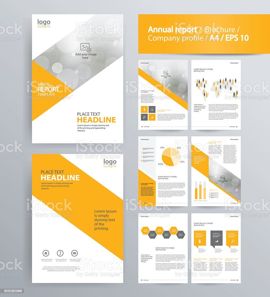 Page layout for company profile annual report and brochure for Company profile brochure template