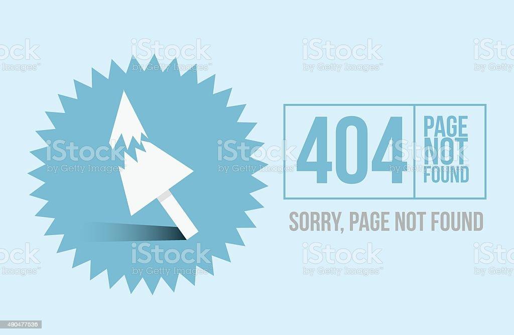 Page not found Error 404 design for website vector art illustration