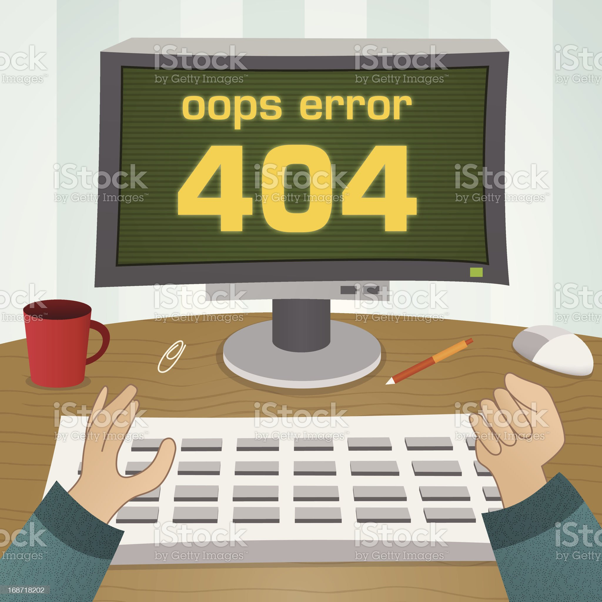 page not found error 404 royalty-free stock vector art