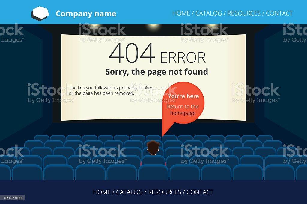 Page not found Error 404 vector art illustration
