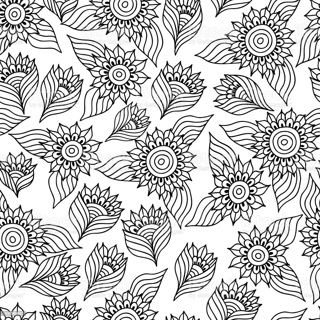 Coloring Pictures Of Sunflowers. beautiful sunflower coloring page click the blooming  hand drawn cat and
