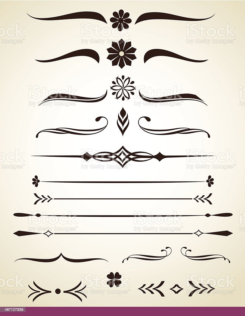 Page or text dividers vector art illustration