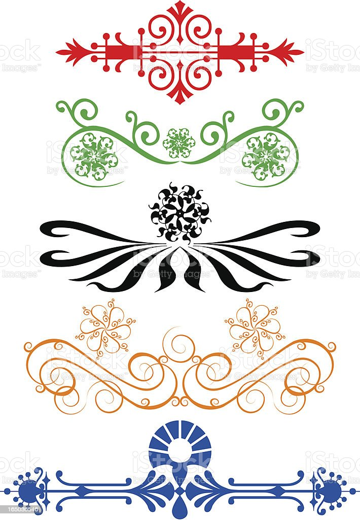 Page Ornaments - Scrolls royalty-free stock vector art