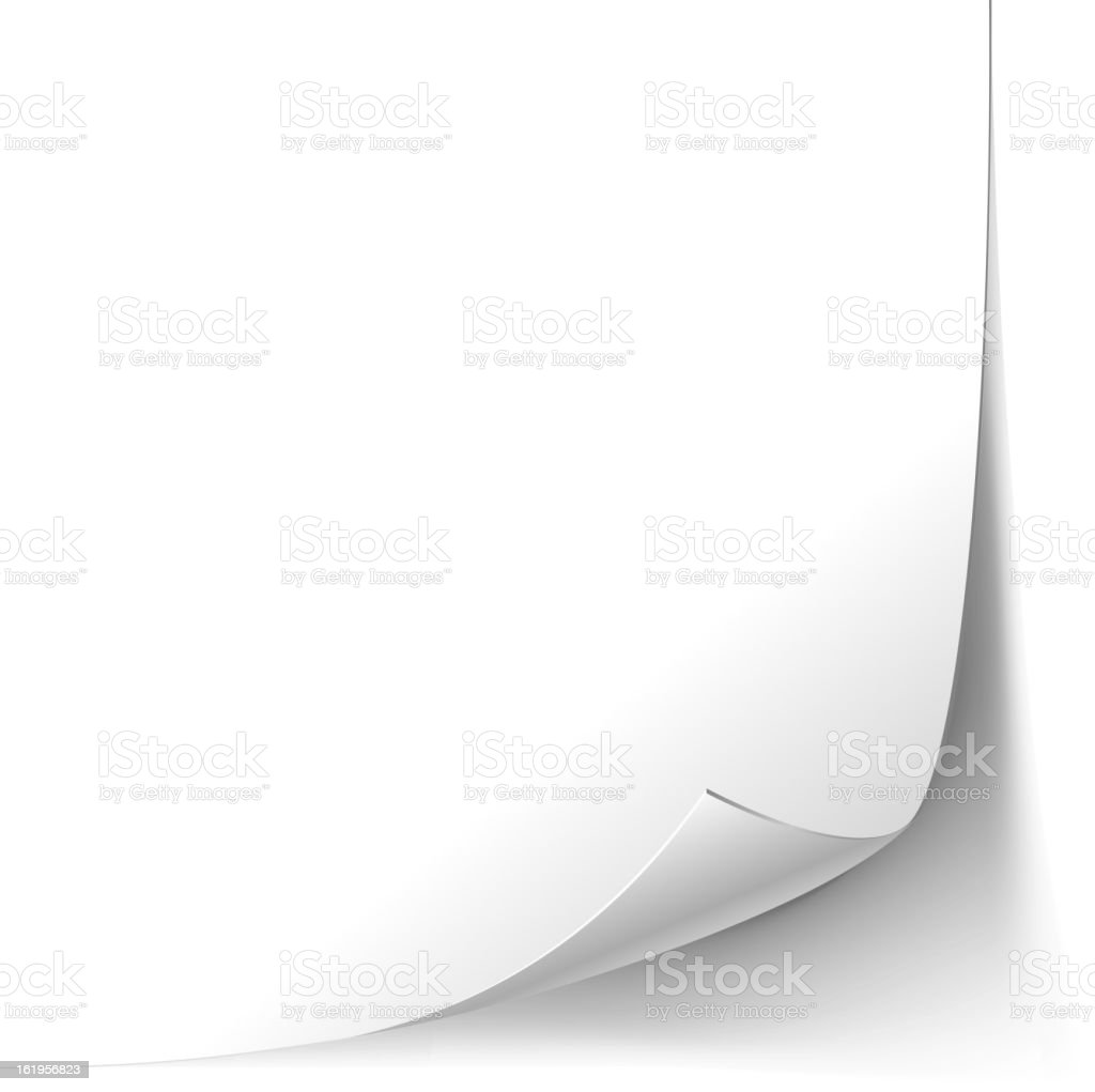 Page Paper Corner Curl royalty-free stock vector art