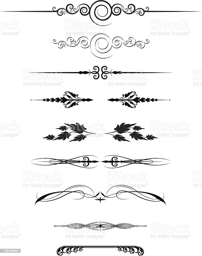 Page Rule Assortment vector art illustration