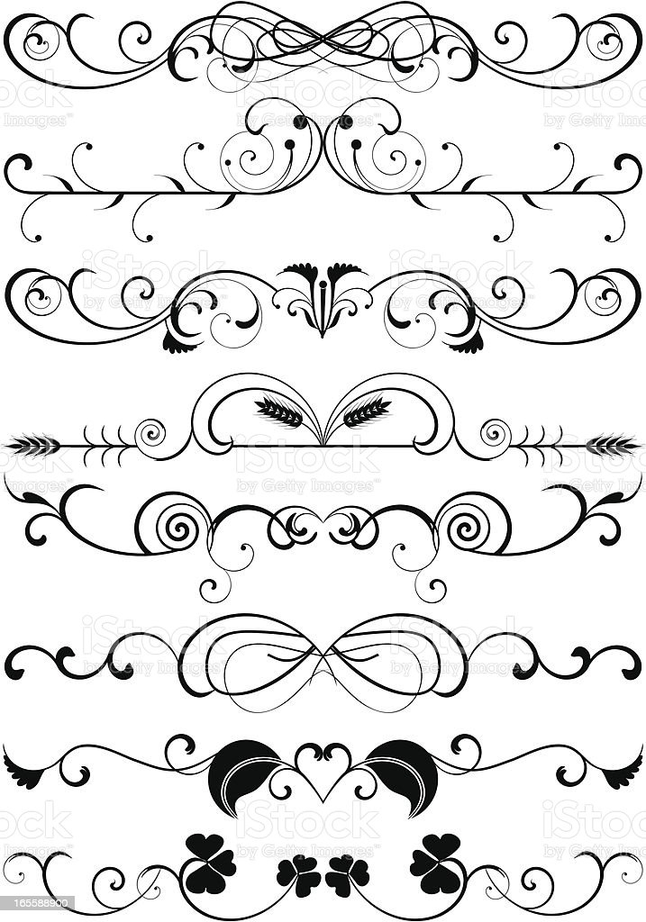 Page rules royalty-free stock vector art