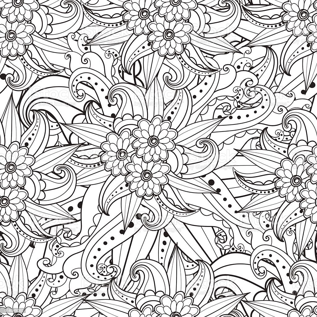 Pages for adult coloring book. Hand drawn artistic ethnic ornamental vector art illustration