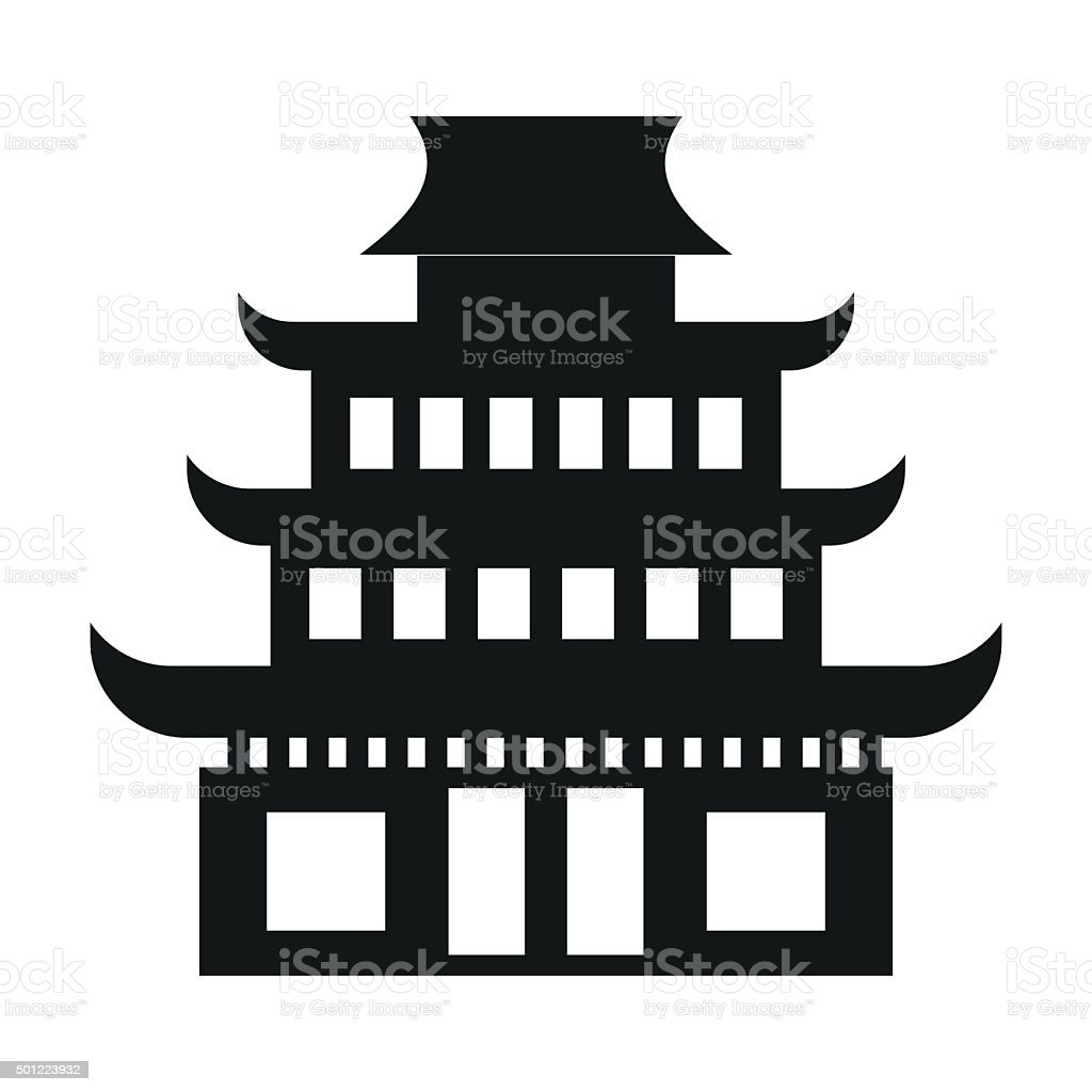 Pagoda simple icon vector art illustration