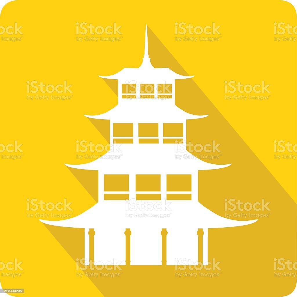Pagoda, vector illustration vector art illustration