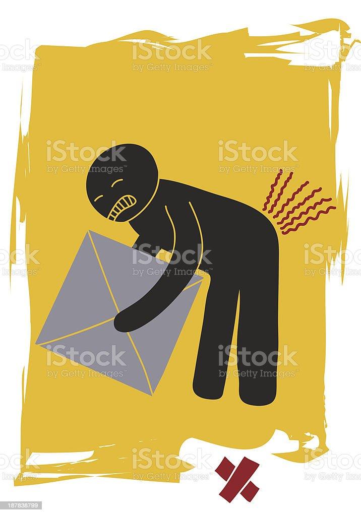 pain in the back vector art illustration