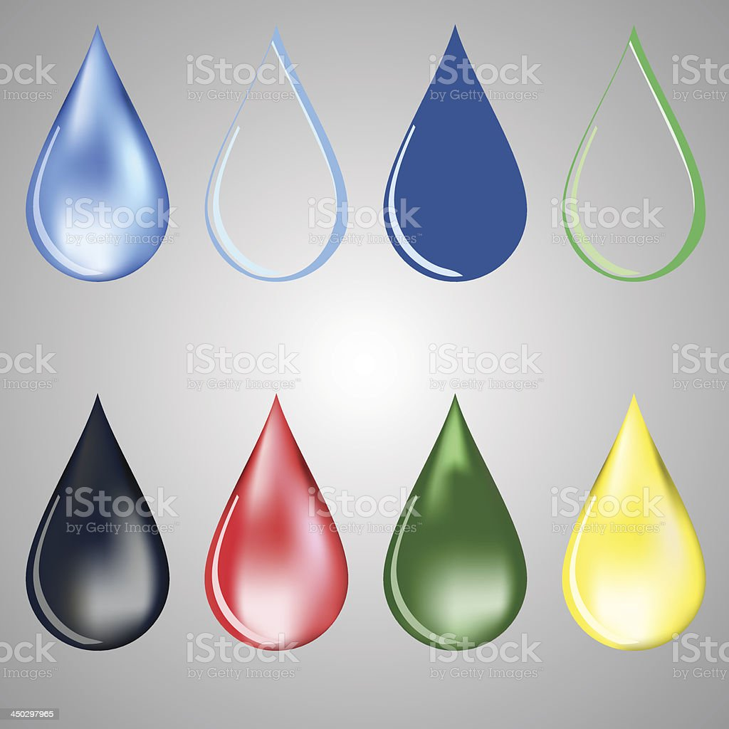 paint and water drops royalty-free stock vector art