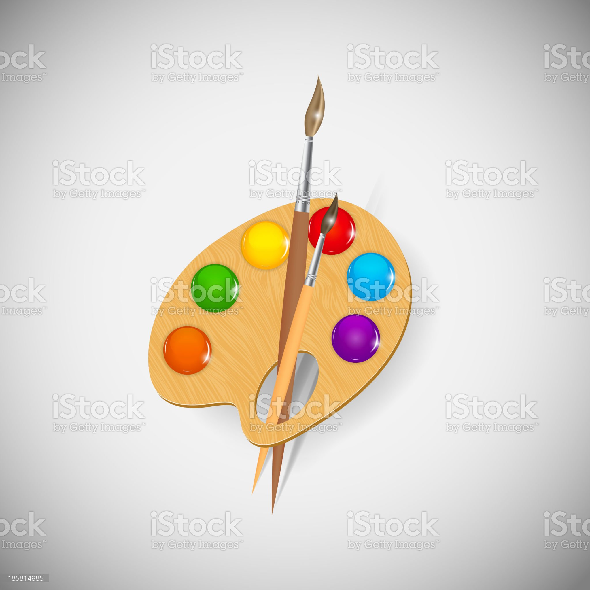 Paint application icons vector illustration royalty-free stock vector art
