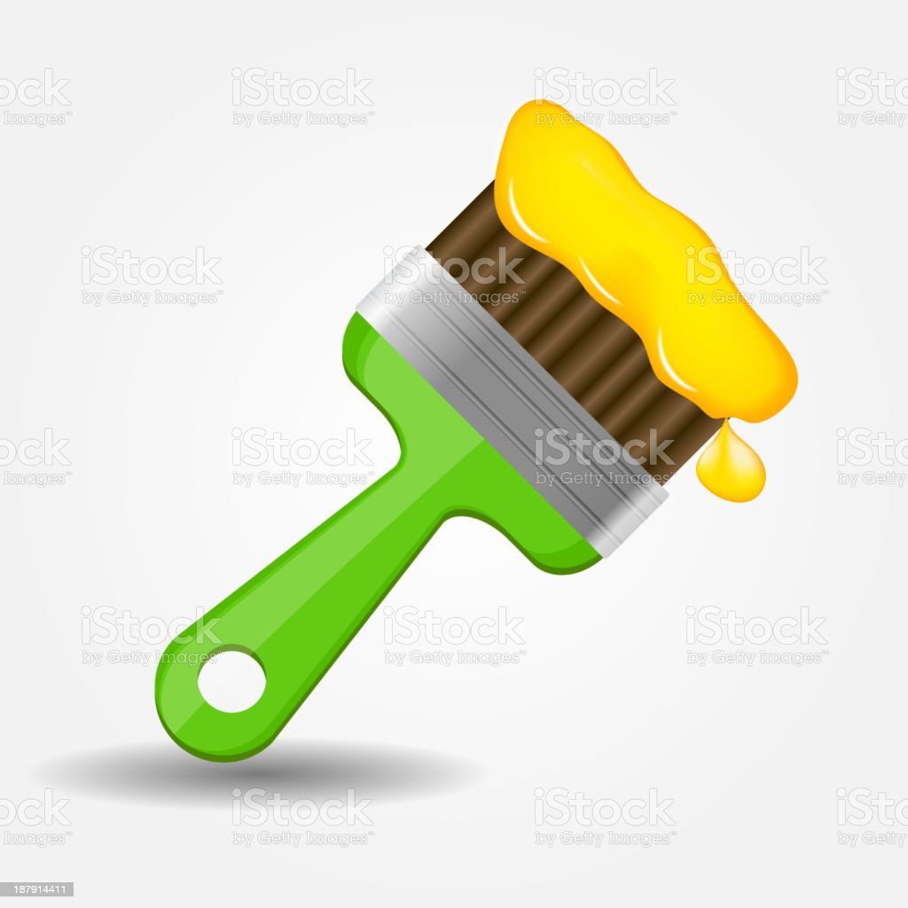 Paint brush icon vector illustration royalty-free stock vector art