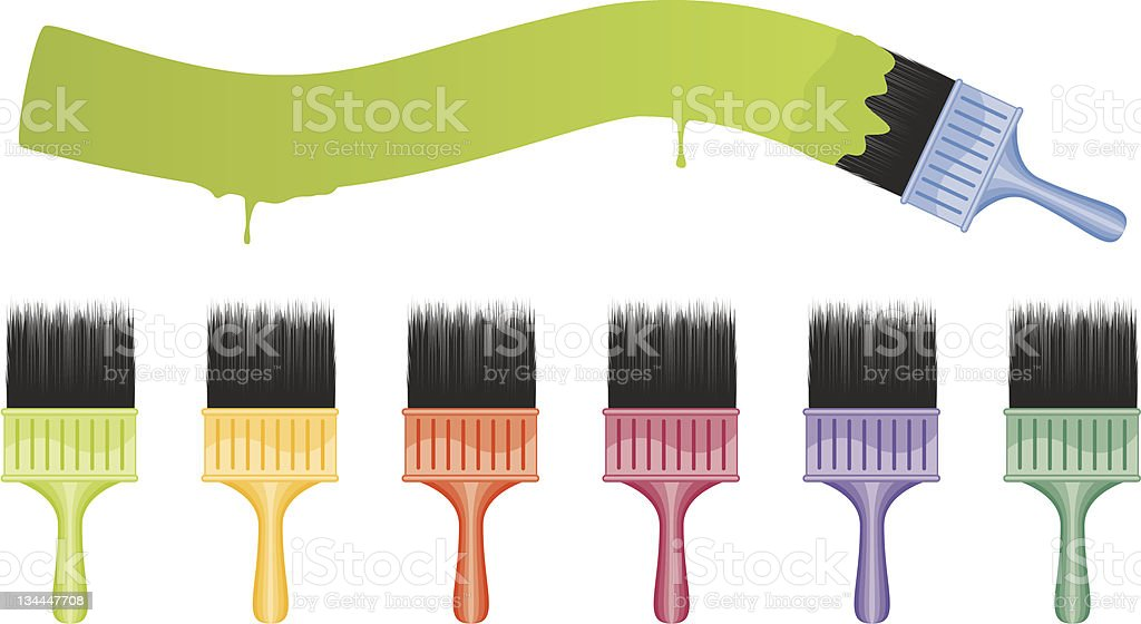Paint Brushes royalty-free stock vector art