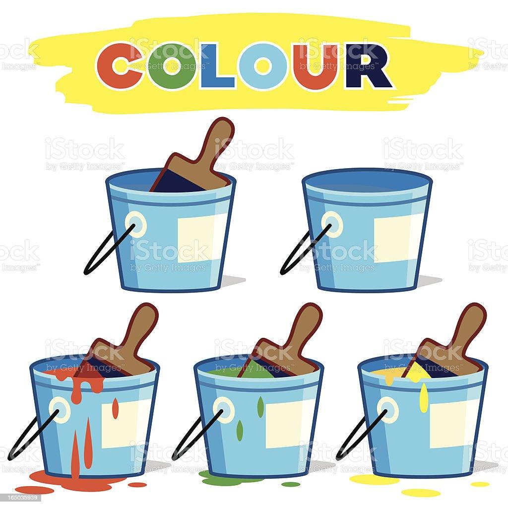 Paint Bucket Colour royalty-free stock vector art
